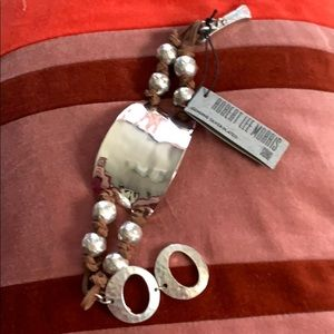Robert Lee Morris | Silver & Leather Bracelet